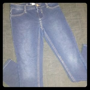 So Jeggings Girls Sz 14 Stretch Comfy Blue Jean
